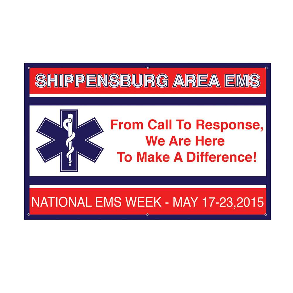 National Ems Week Custom Banner 38 Quot X 60 Quot