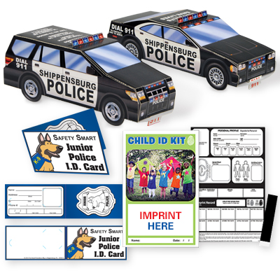 Paper Police Vehicles & I.D.
