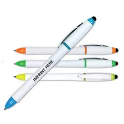 3 in 1 Highlighter/Pen/Stylus firefighting, fire safety product, fire prevention, highlighter, pen, stylus, pen/stylus