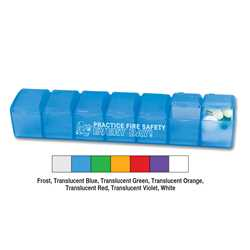 7-Day Pillcase; ASSORT UP TO 4 COLORS