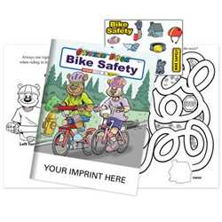 Bike Safety Sticker Book - Imprinted Bike safety sticker book, bike safety, sticker books, activity books, promotional sticker books