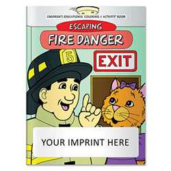 Coloring Book - Escaping Fire Danger firefighting, fire safety product, fire prevention, fire safety coloring book, fire prevention coloring book, fire safety activity book, fire prevention activity book
