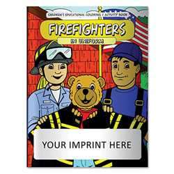 Coloring Book - Firefighters in Uniform firefighting, fire safety product, fire prevention, fire safety coloring book, fire prevention coloring book, fire safety activity book, fire prevention activity book