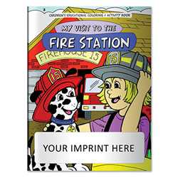 Coloring Book - My Visit to the Fire Station firefighting, fire safety product, fire prevention, fire safety coloring book, fire prevention coloring book, fire safety activity book, fire prevention activity book