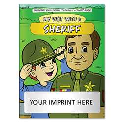 Coloring Book - My Visit with a Sheriff firefighting, fire safety product, fire prevention, fire safety coloring book, fire prevention coloring book, fire safety activity book, fire prevention activity book