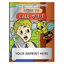 Coloring Book - When to Call 911 firefighting, fire safety product, fire prevention, fire safety coloring book, fire prevention coloring book, fire safety activity book, fire prevention activity book