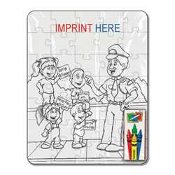 Coloring Puzzle Set - Crime Prevention (35 pc.)