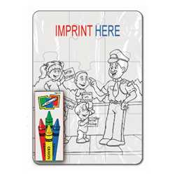Coloring Puzzle Set - Crime Prevention (9 pc.)