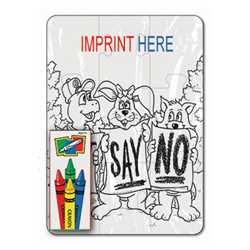Coloring Puzzle Set - Just Say No (9 pc.)