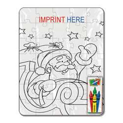 Coloring Puzzle Set - Santa (35 pc.)