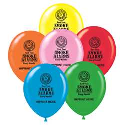 "Custom 11"" Balloons firefighting, fire safety product, fire prevention, balloons, fire safety"