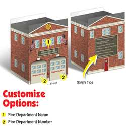 Custom 2 Engine Bay Paper Fire Station Fire Station,  Fire, Station, Safety