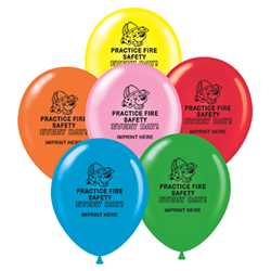 "Custom 9"" Balloons firefighting, fire safety product, fire prevention, balloons, fire safety"