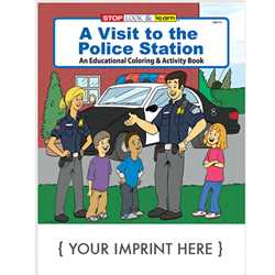 Custom Imprinted Coloring Book - A Visit to the Police Station