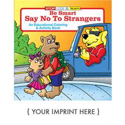 Custom Imprinted Coloring Book - Be Smart, Say No to Strangers