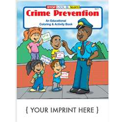 Custom Imprinted Coloring Book - Crime Prevention