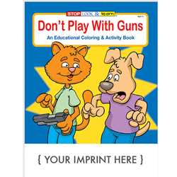 Custom Imprinted Coloring Book - Dont Play with Guns