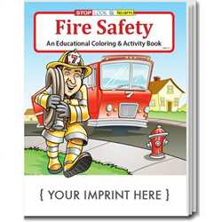 Custom Imprinted Coloring Book - Fire Safety Children, educational, coloring, activity, book, safety
