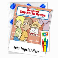 Custom Imprinted Coloring Book Fun Pack - Be Smart, Say No to Drugs