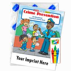 Custom Imprinted Coloring Book Fun Pack - Crime Prevention