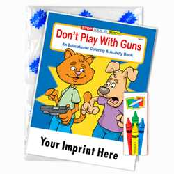Custom Imprinted Coloring Book Fun Pack - Dont Play with Guns