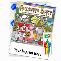Custom Imprinted Coloring Book Fun Pack - Halloween Safety