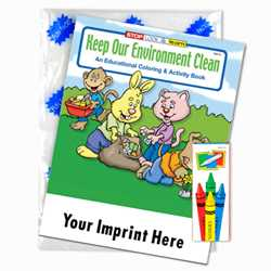 Custom Imprinted Coloring Book Fun Pack - Keep Our Environment Clean