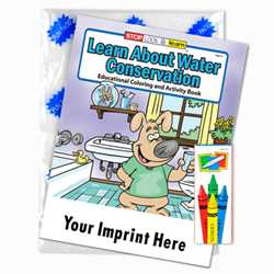 Custom Imprinted Coloring Book Fun Pack - Learn About Water Conservation