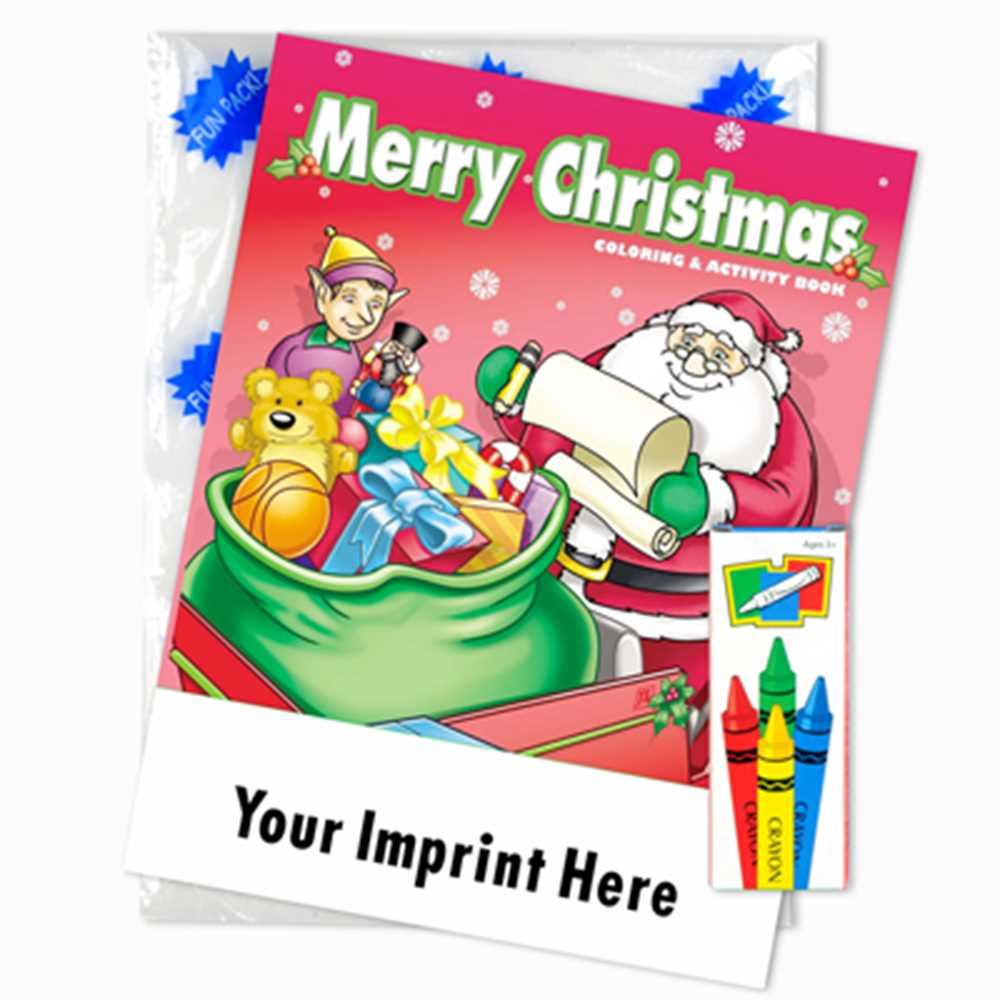 Custom Imprinted Coloring Book Fun Pack