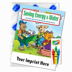 Custom Imprinted Coloring Book Fun Pack - Saving Energy and Water