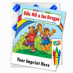 Custom Imprinted Coloring Book Fun Pack - Say No to Drugs (Spanish)