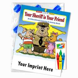 Custom Imprinted Coloring Book Fun Pack - Your Sheriff is Your Friend