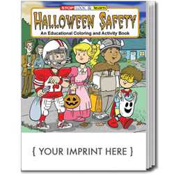 Custom Imprinted Coloring Book - Halloween Safety