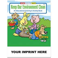 Custom Imprinted Coloring Book - Keep Our Environment Clean