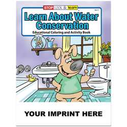 Custom Imprinted Coloring Book - Learn About Water Conservation