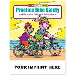 Custom Imprinted Coloring Book - Practice Bike Safety