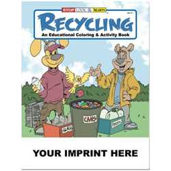 Custom Imprinted Coloring Book - Recycling