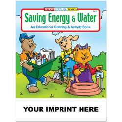 Custom Imprinted Coloring Book - Saving Energy and Water