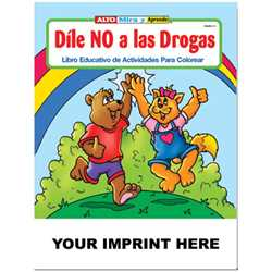 Custom Imprinted Coloring Book - Say No To Drugs (Spanish)