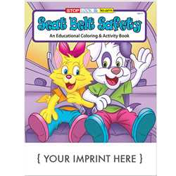 Custom Imprinted Coloring Book - Seat Belt Safety