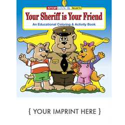 Custom Imprinted Coloring Book - Your Sheriff is Your Friend