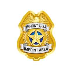 Custom Imprinted Gold Jr PC Shield w/ Gold Star Paper Police Hat police, educational, police hat, paper hat, kids hat, police department, police officer
