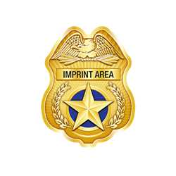 Custom Imprinted Gold Jr PO Shield w/ Gold Star Paper Police Hat police, educational, police hat, paper hat, kids hat, police department, police officer