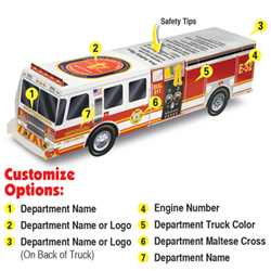 Custom Paper Fire Engine Fire Truck, Fire, Truck, Safety