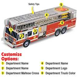 Custom Paper Ladder Fire Truck Fire Truck, Fire, Truck, Safety