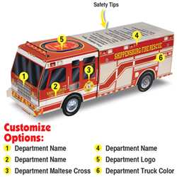 Custom Paper Rescue Fire Truck Fire Truck, Fire, Truck, Safety