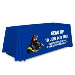 Economy Table Throw - Gear Up to Join our Team firefighting, fire safety product, fire prevention, table cover, table throw, table cloth, fire dept., community events, fire prevention week