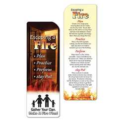 Escaping A Fire Bookmark firefighting, fire safety product, fire prevention, bookmark, escaping a fire, fire, emergencies, emergency