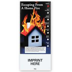 Escaping From a Home Fire Slide Chart fire safety product, fire prevention, slide chart, fire safety, emergencies, emergency