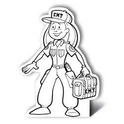 Female EMT Color-Me Stand-Out firefighting, fire safety product, fire prevention, color me, female EMT, firefighter, stand out